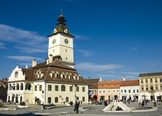 Council Square of Brasov, in Transylvania, Romania