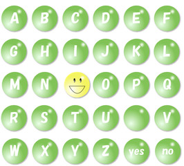 緑のアルファベット