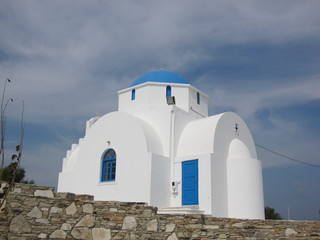 Typical greek church in Antiparos, Cyclades, Greece