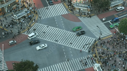 Time lapse Shibuya cross-walk