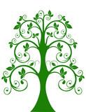 The openwork tree poster