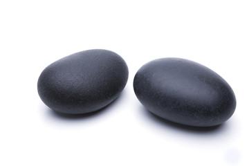 Schwarze Zen Steine