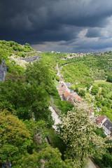 Orage sur Rocamadour