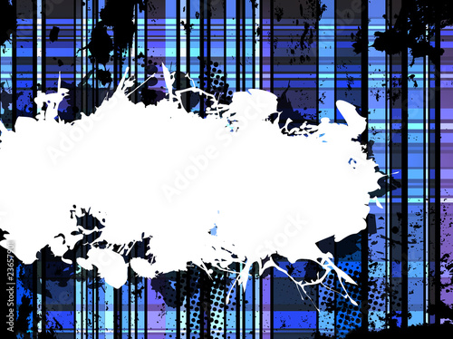 Checkered Blue Grunge Background.