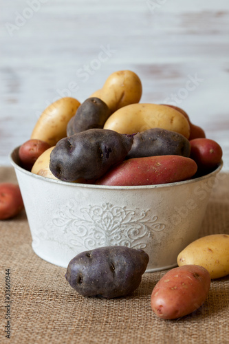 Assorted new potatoes