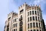 Barcelona - modernist architecture at Via Laietana poster