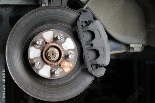 Car brake close up