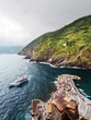 The dramatic coast of the CinqueTerre in Italy