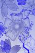 Farbige Blumenornamente