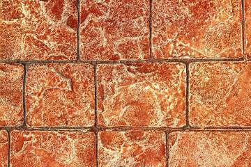 on-site printed concrete cement pavement texture