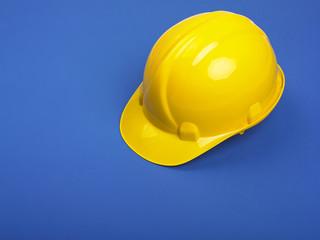 Yellow Hardhat On Blue