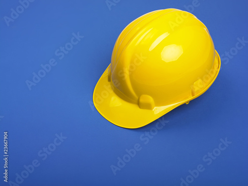 Yellow Hardhat On Blue