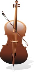 Violoncello-Cello-Violoncelle-Vector