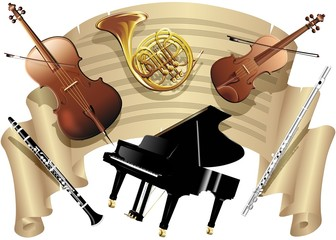 Spartito Musica e Strumenti-Music Sheet and Musical Instruments