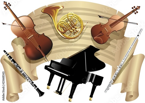 Spartito Musica e Strumenti-Music Sheet and Musical Instruments