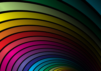 Rainbow vector colored arcs