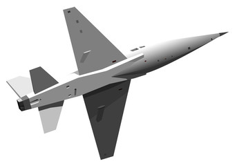 Vector illustration of military jet