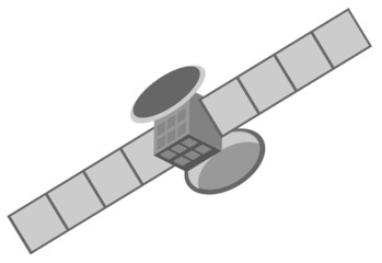 Vector illustration of satellite