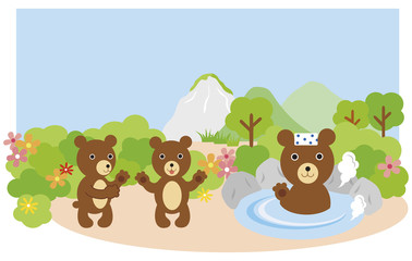 bear in onsen