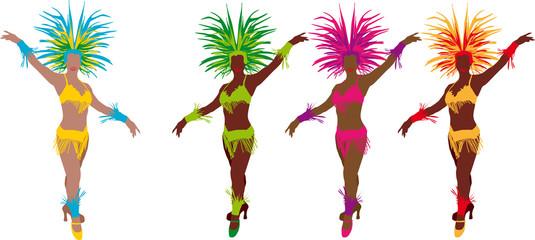 4 danseuses de samba