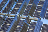 Close Up Renewable Green Energy Photovoltaic Solar Panel poster
