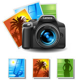 photocamera with 3 pictures