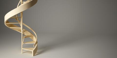 Spiral stairway in studio.