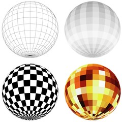 Disco Ball - colored illustration