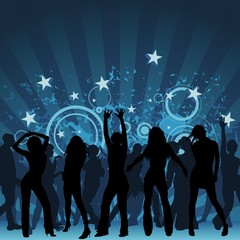 Clubbing - dance party background, illustration