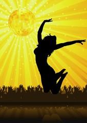 Disco Party - background illustration