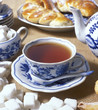 tea set with pastry