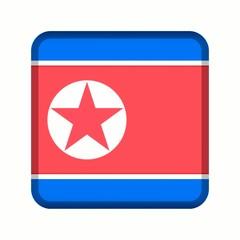 animation bouton drapeau corée du nord