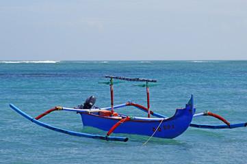 The coast Bali sea in Kuta