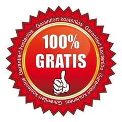 Button - 100% Gratis - Garantiert kostenlos