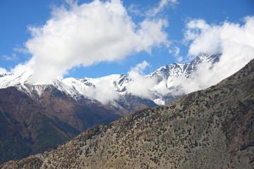Himalaya and Cloud and Blue Sky
