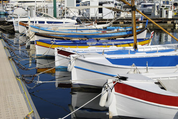 Fishing boats at Cannes. Cote d'Azur. France