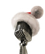 Santas microphone isolated