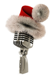 Santas microphone isolated left view