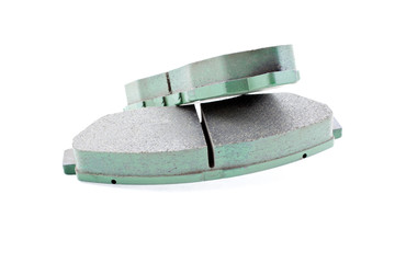 front car brake pads isolated