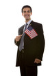 Businessman with American flag