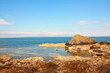 Ayrshire beach at Dunure Castle
