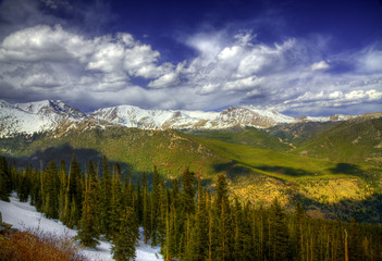 Rocky Mountain Snow Scene