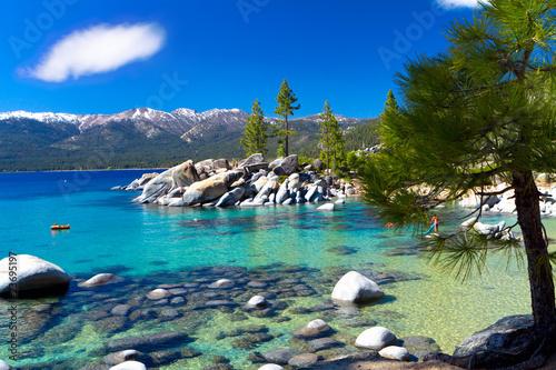 Fotobehang Grote meren Sand Harbor beach, Lake Tahoe Nevada