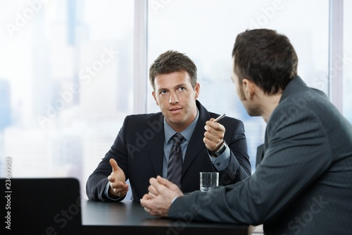 Businessmen at discussion