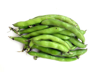 Bunch of fresh broad beans