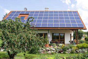 One family house with solar