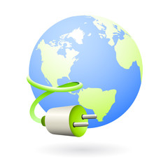 clean energy from the earth icon