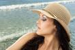 hat summer girl