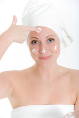 Spass bei der Gesichtspflege