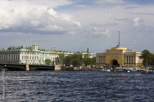 Hermitage museum and the Admiralty in St Petersburg